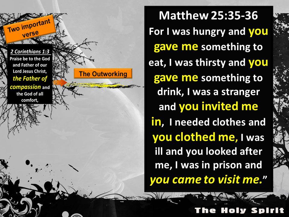 Matthew 25:35-36