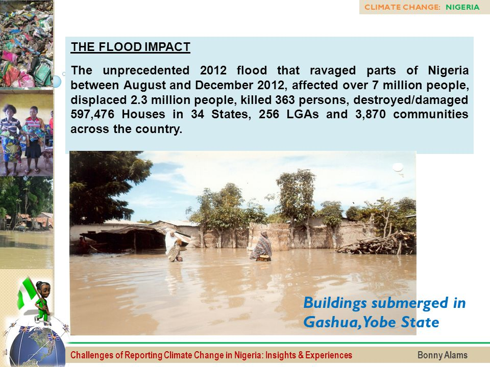 Buildings submerged in Gashua, Yobe State