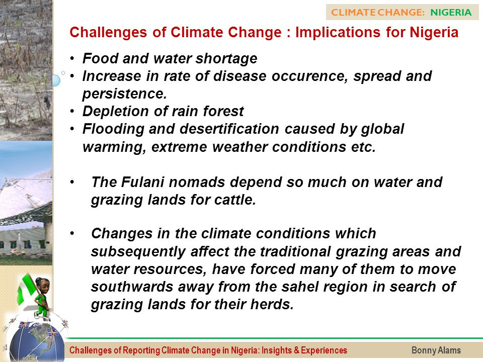 Challenges of Climate Change : Implications for Nigeria