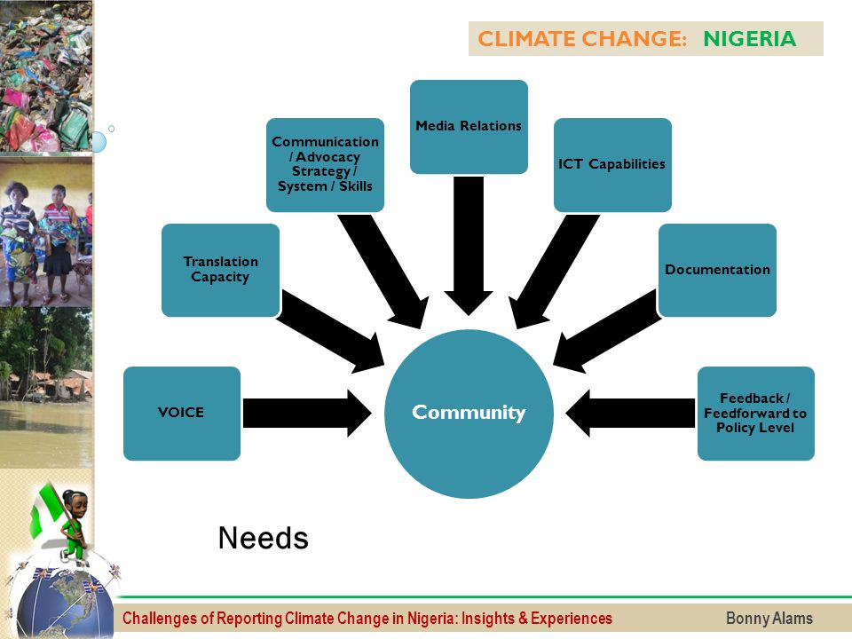 Needs CLIMATE CHANGE: NIGERIA