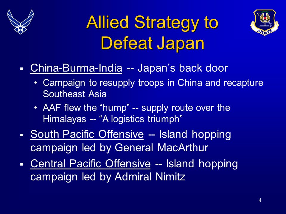 Allied Strategy to Defeat Japan