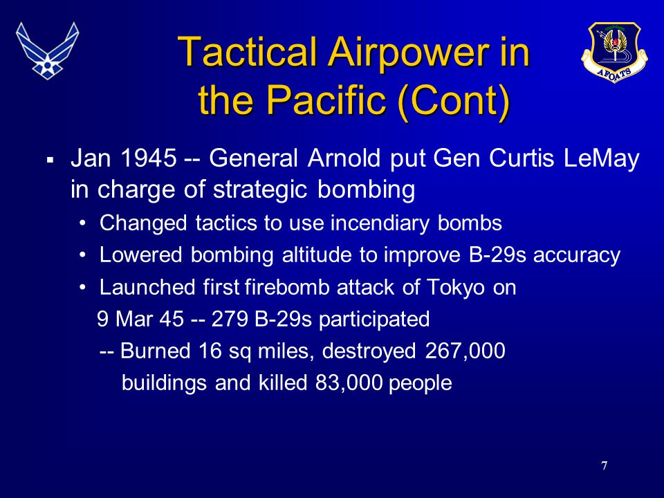 Tactical Airpower in the Pacific (Cont)