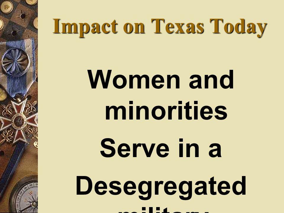 Desegregated military.