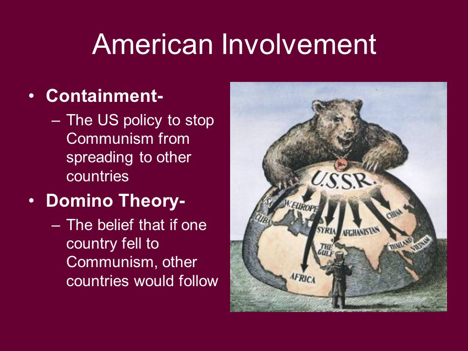 American Involvement Containment- Domino Theory-