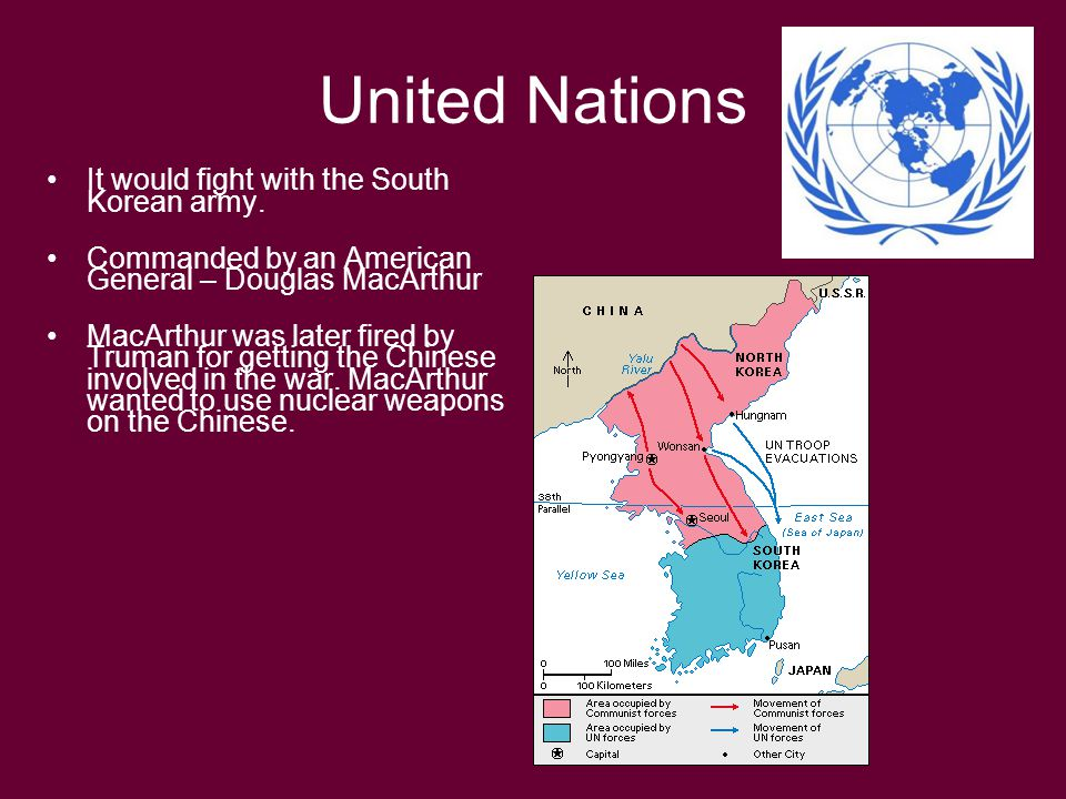 United Nations It would fight with the South Korean army.