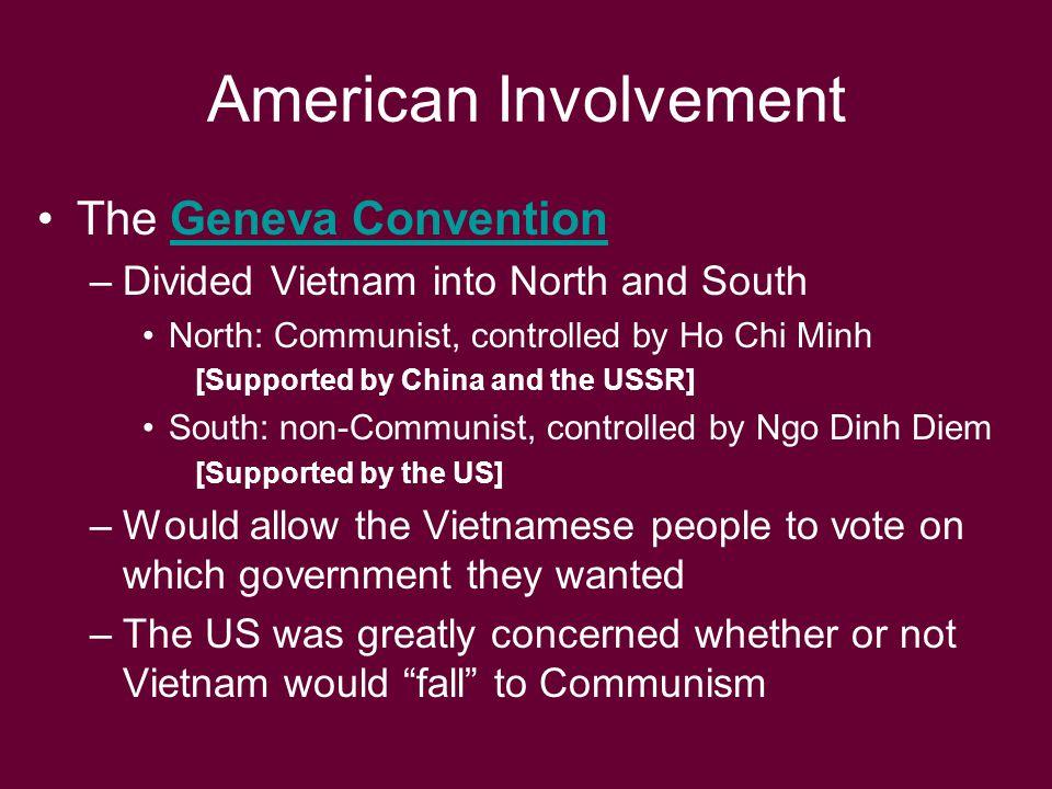 American Involvement The Geneva Convention