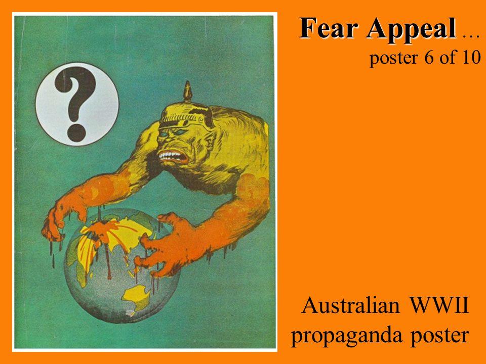 Fear Appeal … poster 6 of 10 Australian WWII propaganda poster