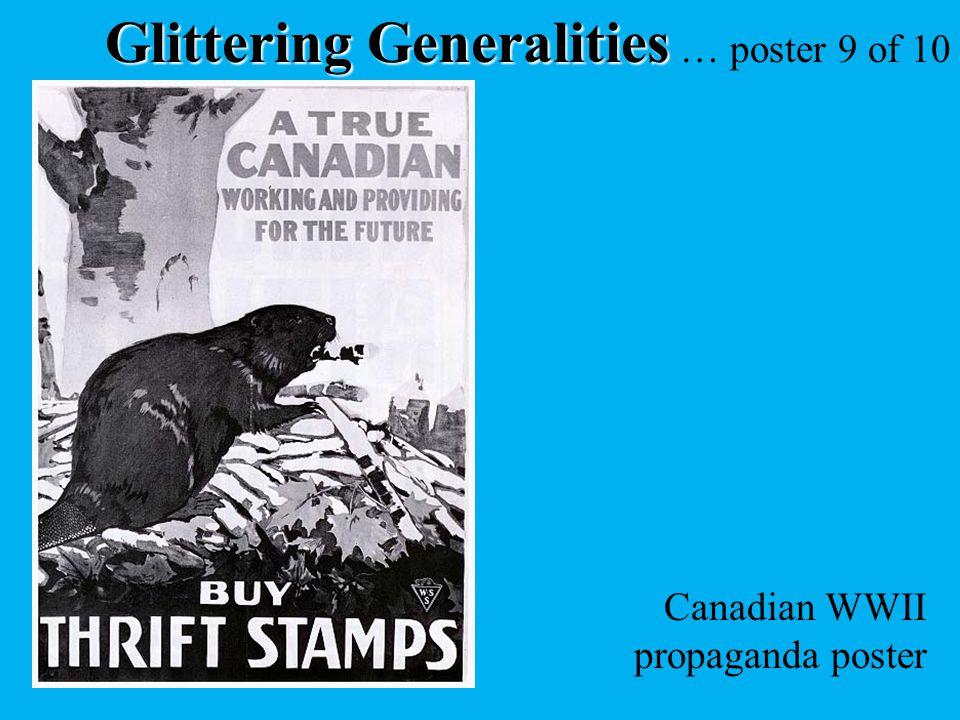 Glittering Generalities … poster 9 of 10