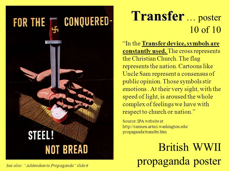 Transfer … poster 10 of 10 British WWII propaganda poster