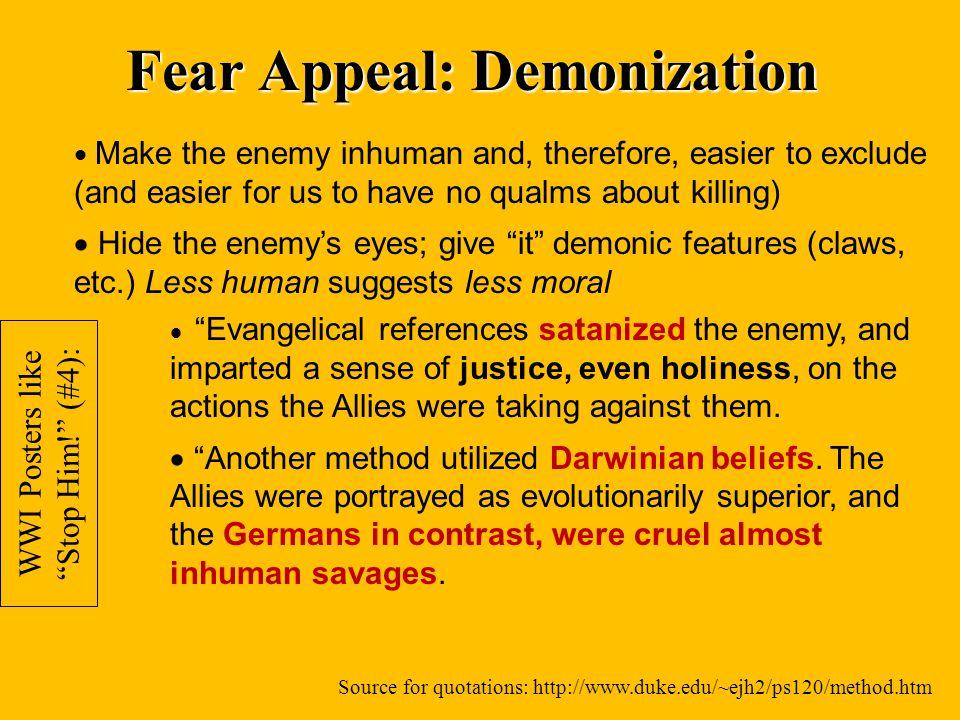 Fear Appeal: Demonization