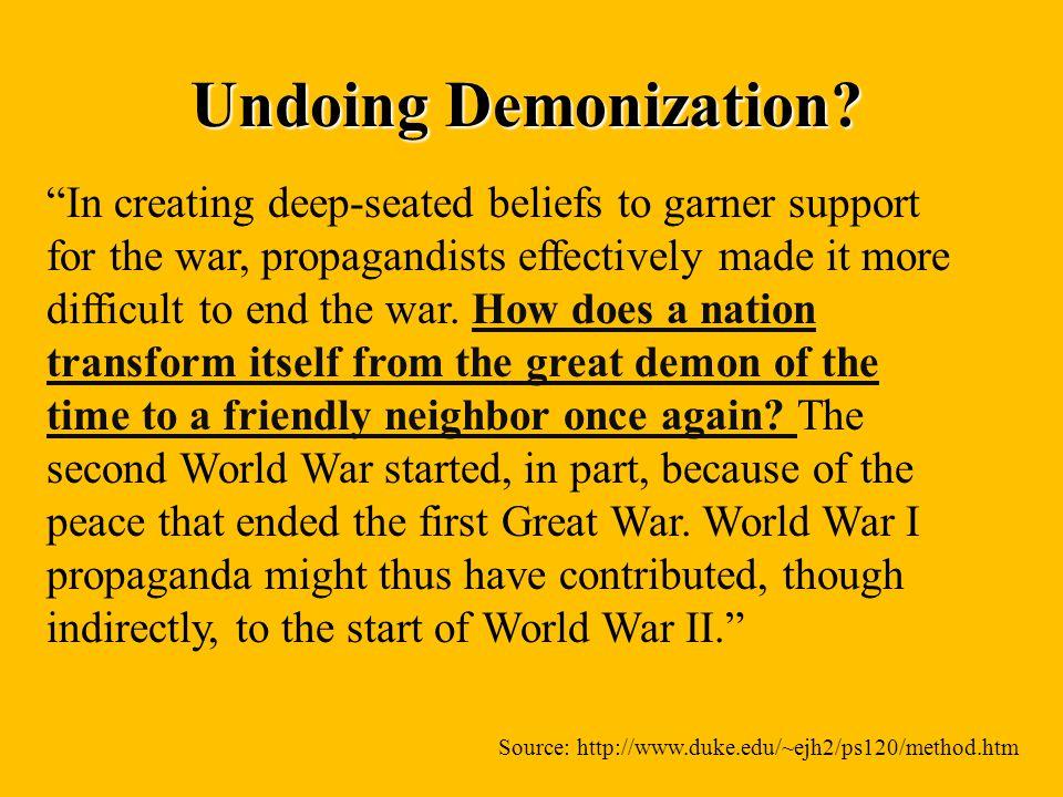 Undoing Demonization