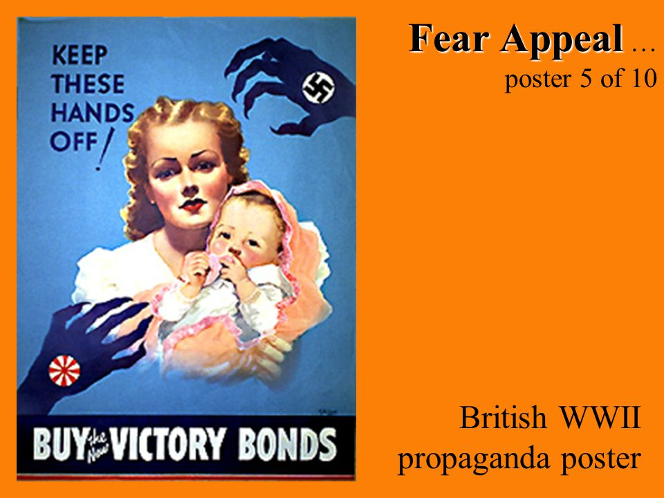 Fear Appeal … poster 5 of 10 British WWII propaganda poster