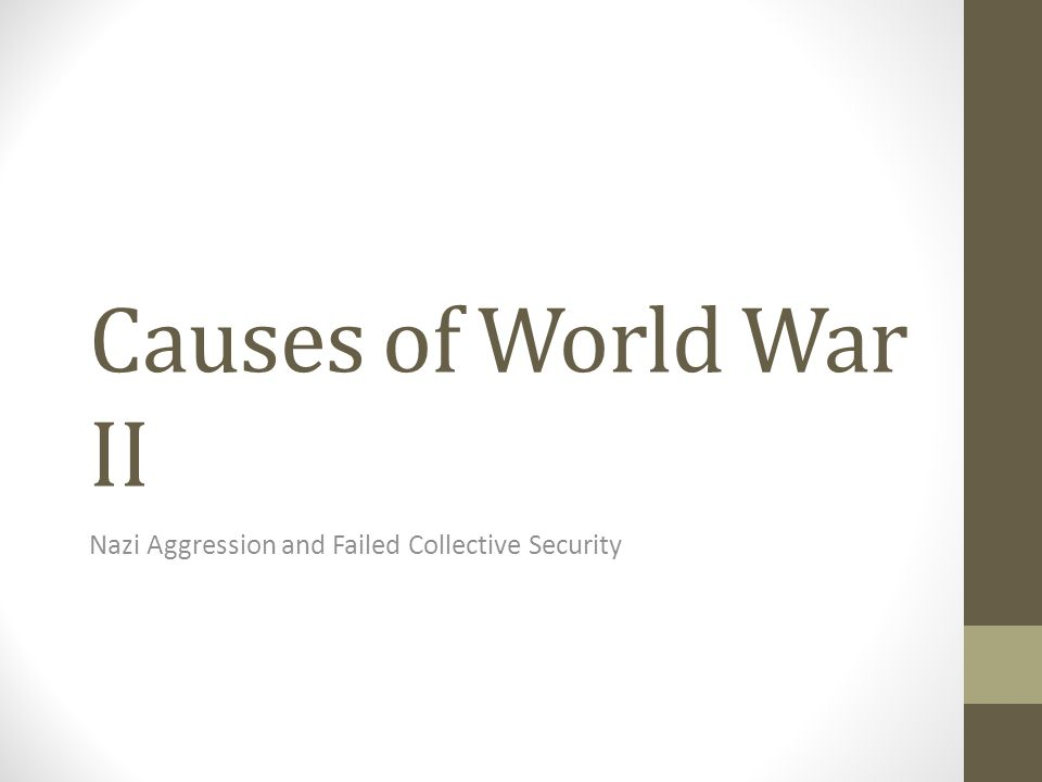 Nazi Aggression and Failed Collective Security