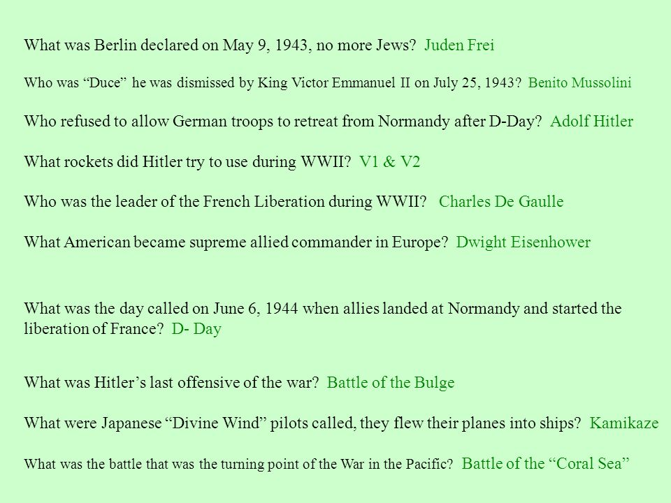 What was Berlin declared on May 9, 1943, no more Jews Juden Frei