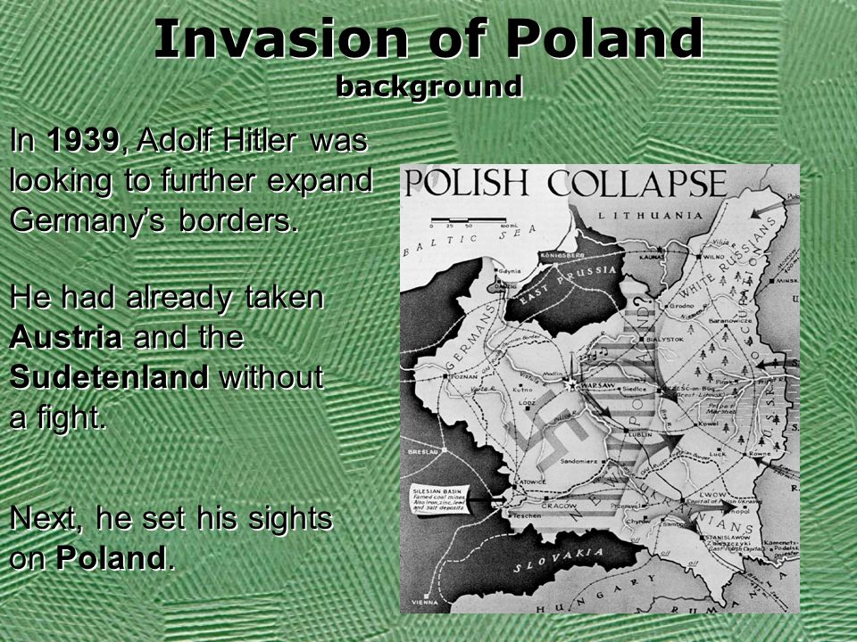 Invasion of Poland background