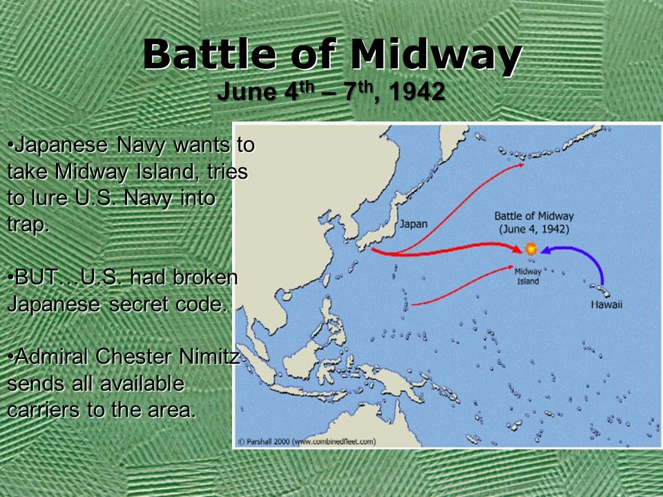 Battle of Midway June 4th – 7th, 1942