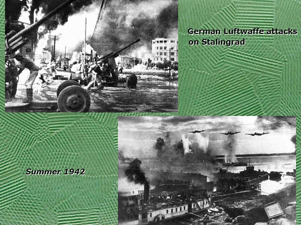 German Luftwaffe attacks