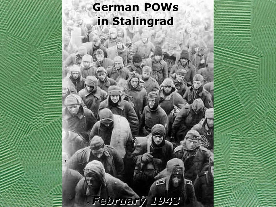 German POWs in Stalingrad February 1943