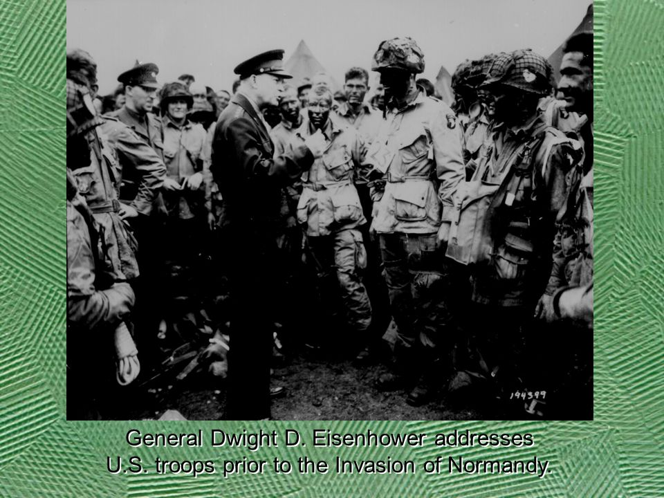 General Dwight D. Eisenhower addresses U. S
