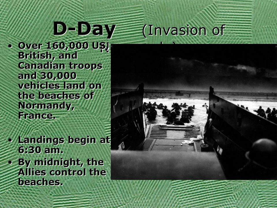D-Day (Invasion of Normandy)