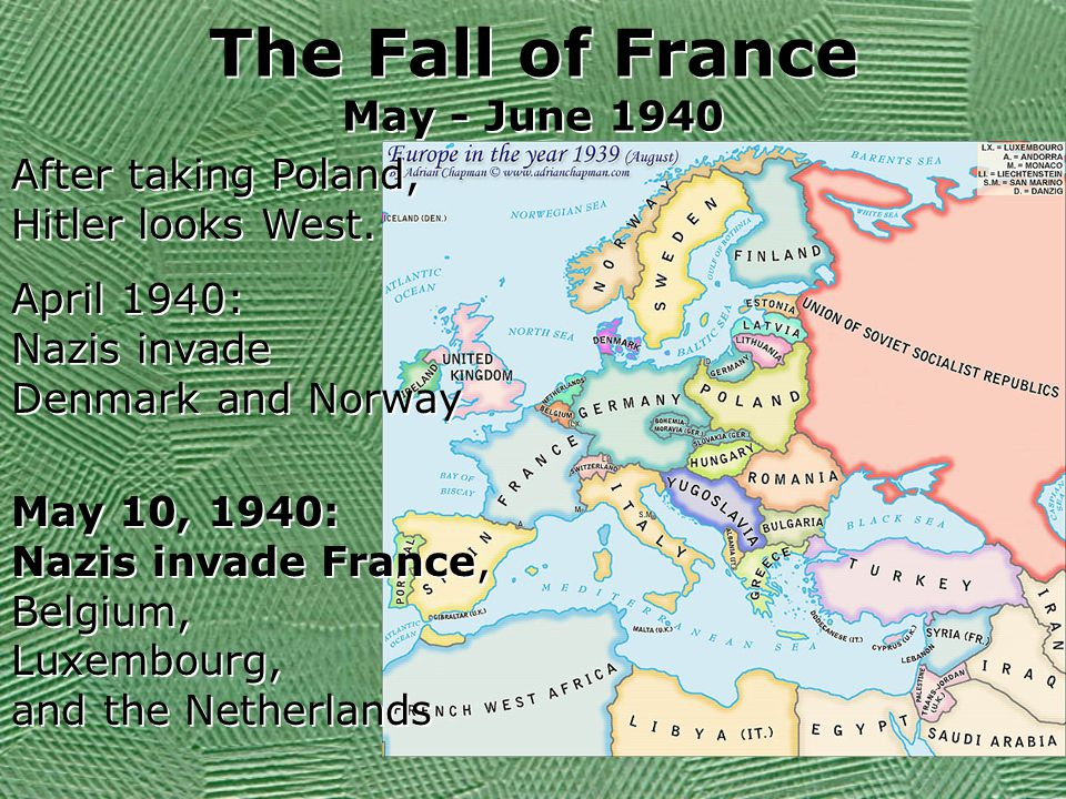 The Fall of France May - June 1940