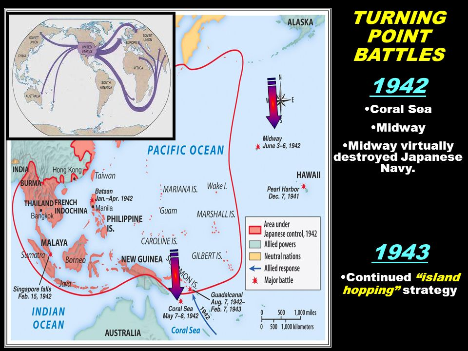 1942 1943 TURNING POINT BATTLES Coral Sea Midway
