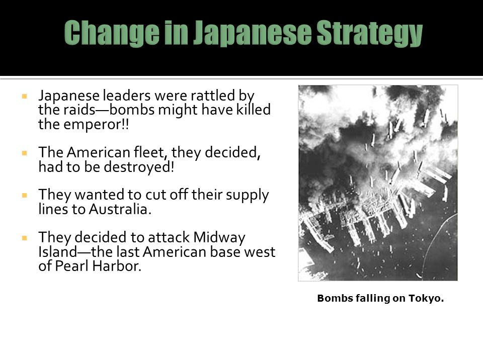 Change in Japanese Strategy