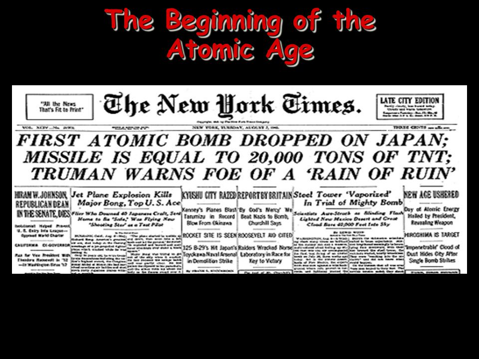 The Beginning of the Atomic Age