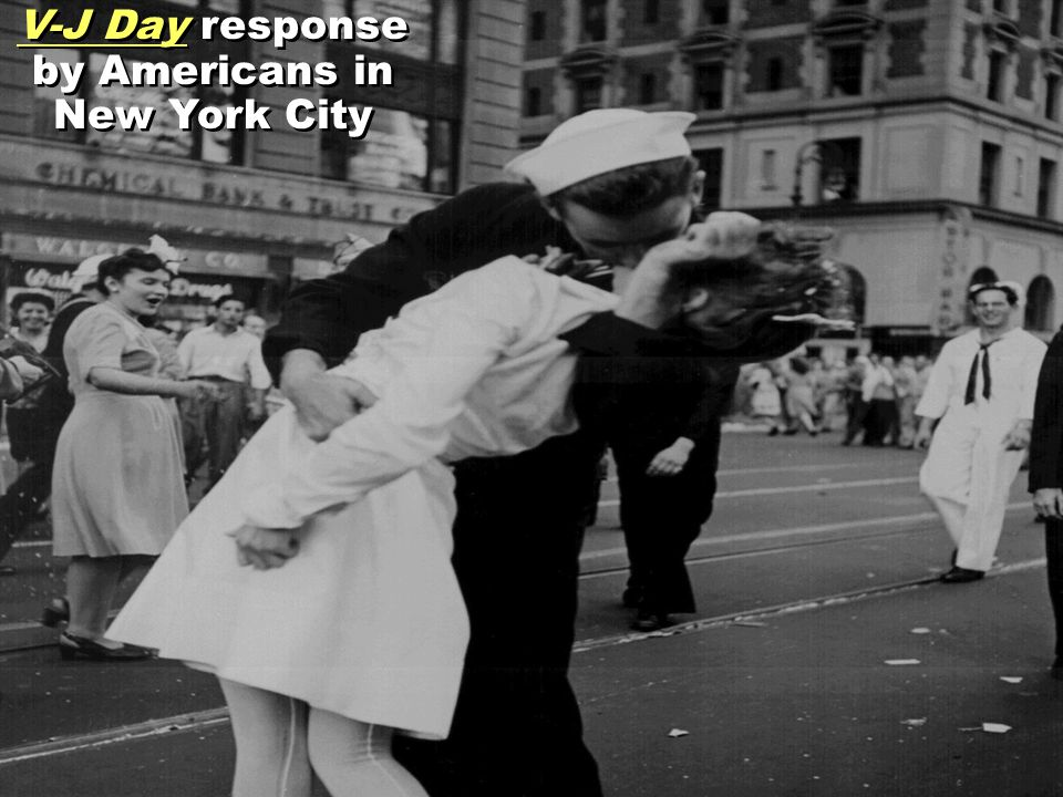 V-J Day response by Americans in New York City