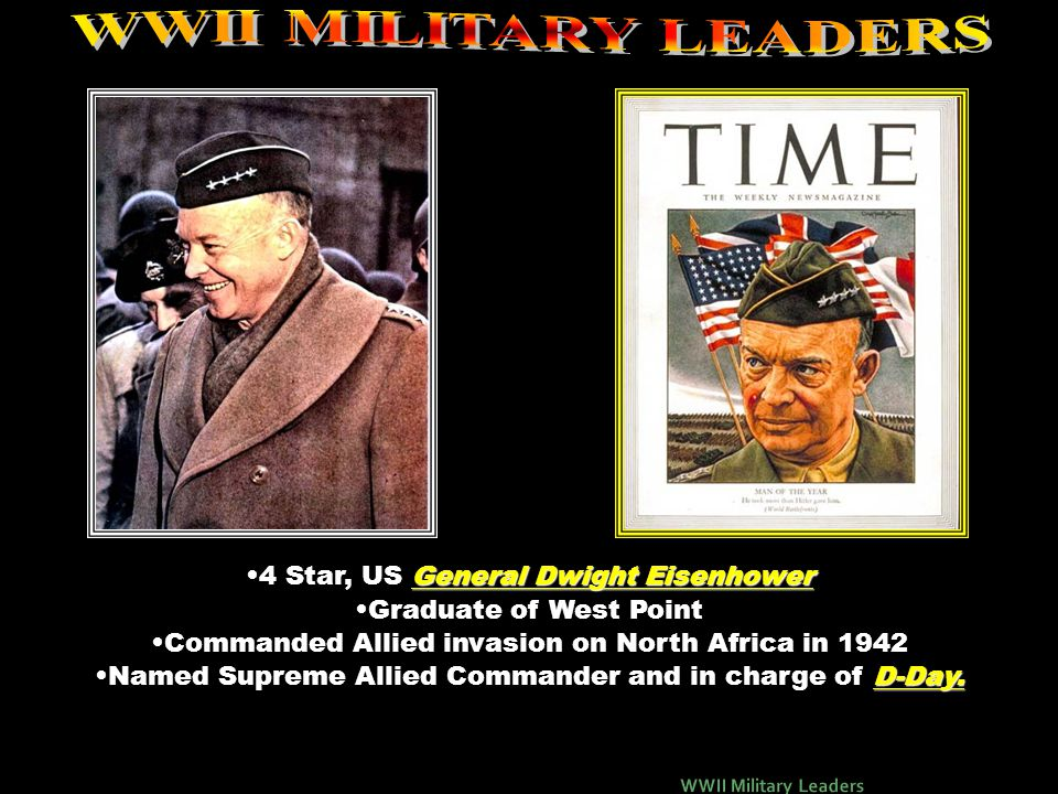 WWII MILITARY LEADERS 4 Star, US General Dwight Eisenhower