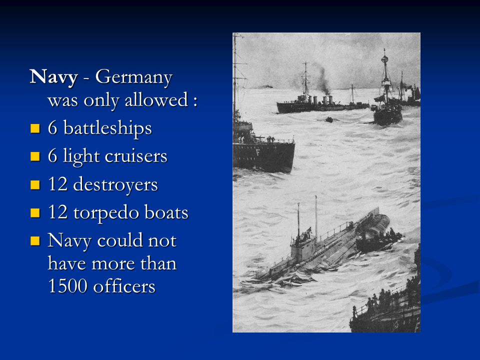Navy - Germany was only allowed :