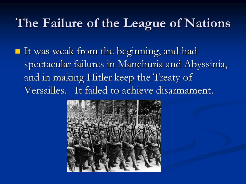 The Failure of the League of Nations