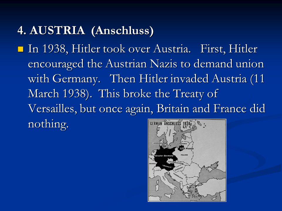 4. AUSTRIA (Anschluss)