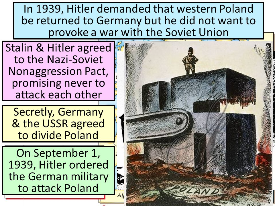 Secretly, Germany & the USSR agreed to divide Poland