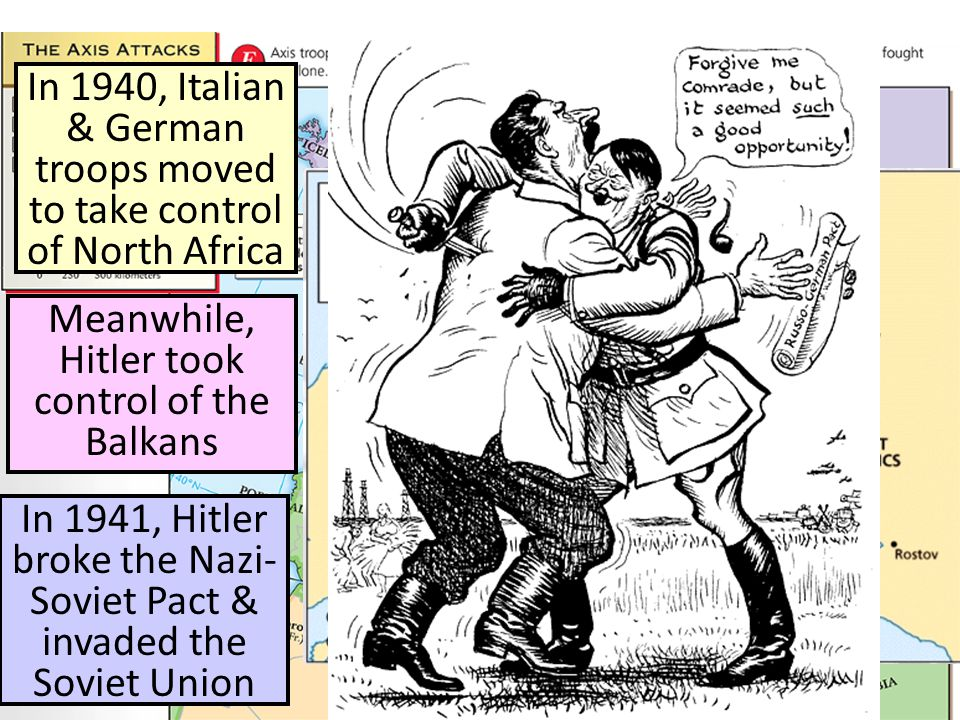 In 1940, Italian & German troops moved to take control of North Africa