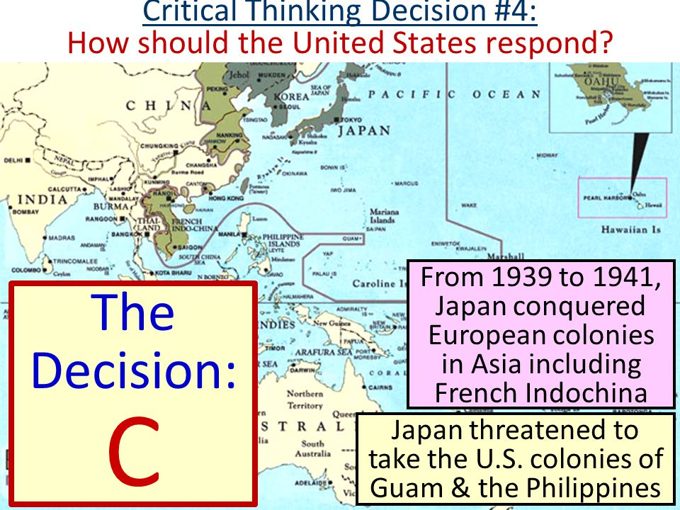 Critical Thinking Decision #4: How should the United States respond