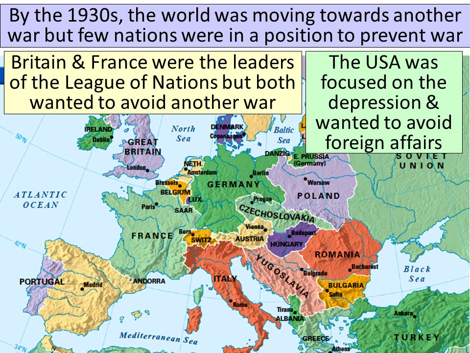 By the 1930s, the world was moving towards another war but few nations were in a position to prevent war