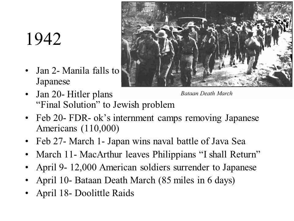 1942 Jan 2- Manila falls to Japanese