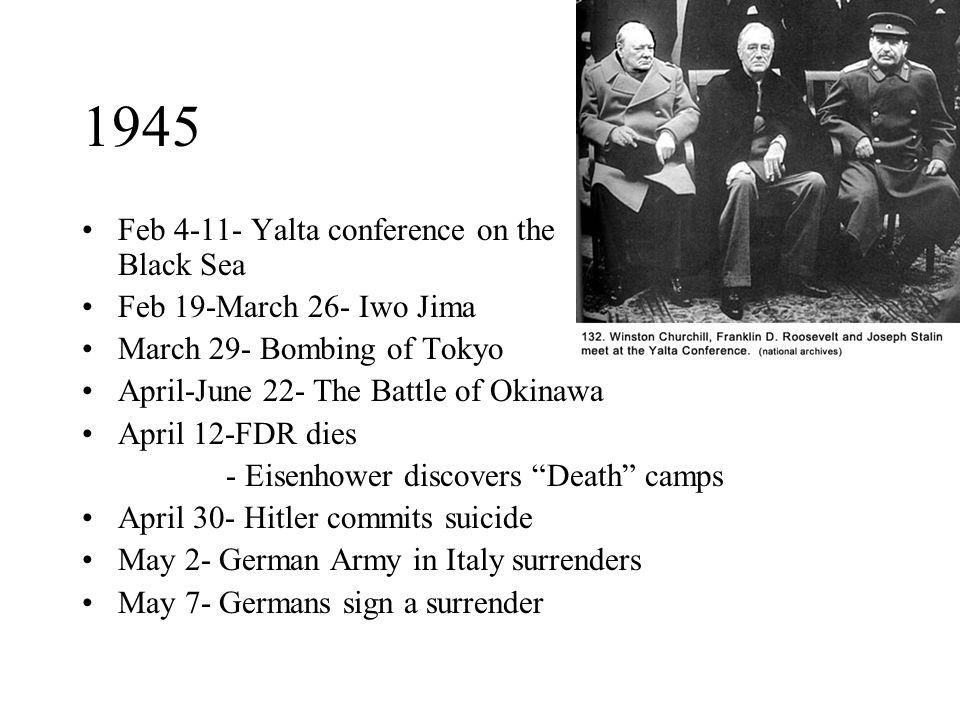 1945 Feb 4-11- Yalta conference on the Black Sea