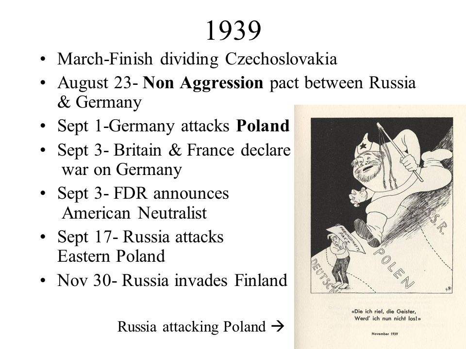 1939 March-Finish dividing Czechoslovakia