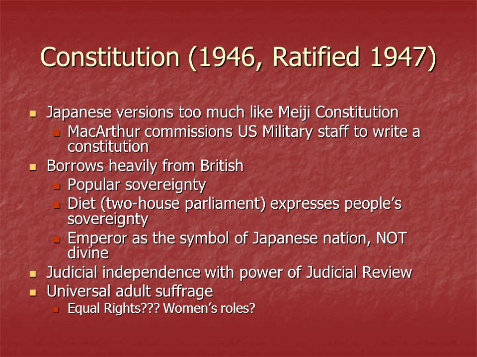 Constitution (1946, Ratified 1947)
