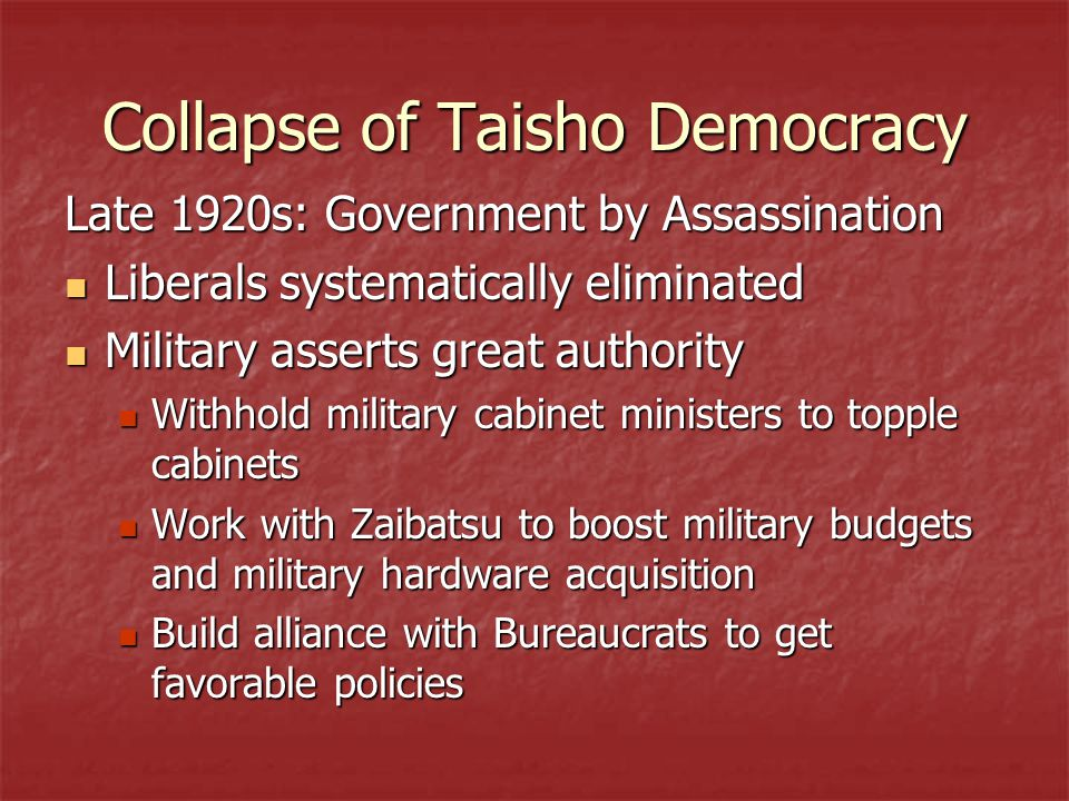 Collapse of Taisho Democracy