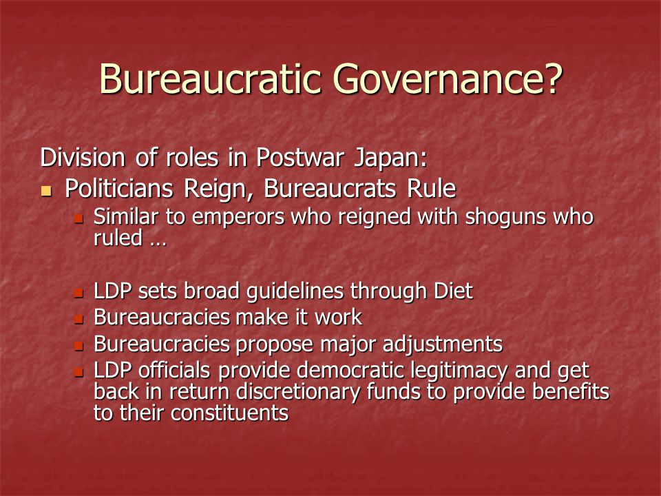 Bureaucratic Governance