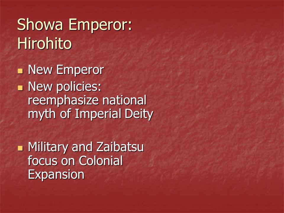 Showa Emperor: Hirohito