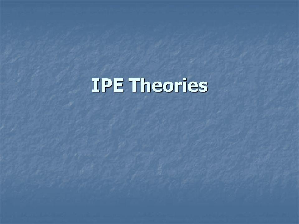 IPE Theories