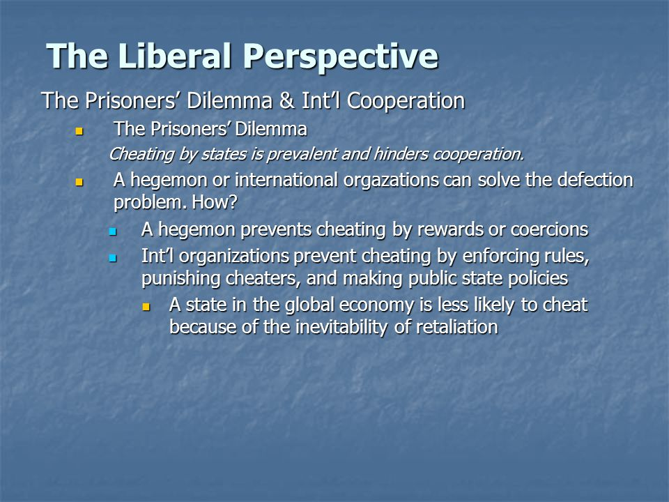 The Liberal Perspective