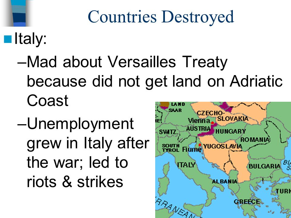Countries Destroyed Italy: