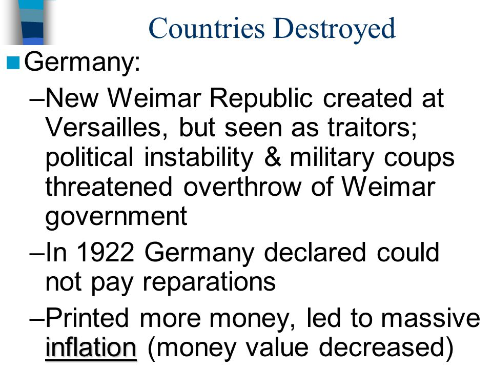 Countries Destroyed Germany:
