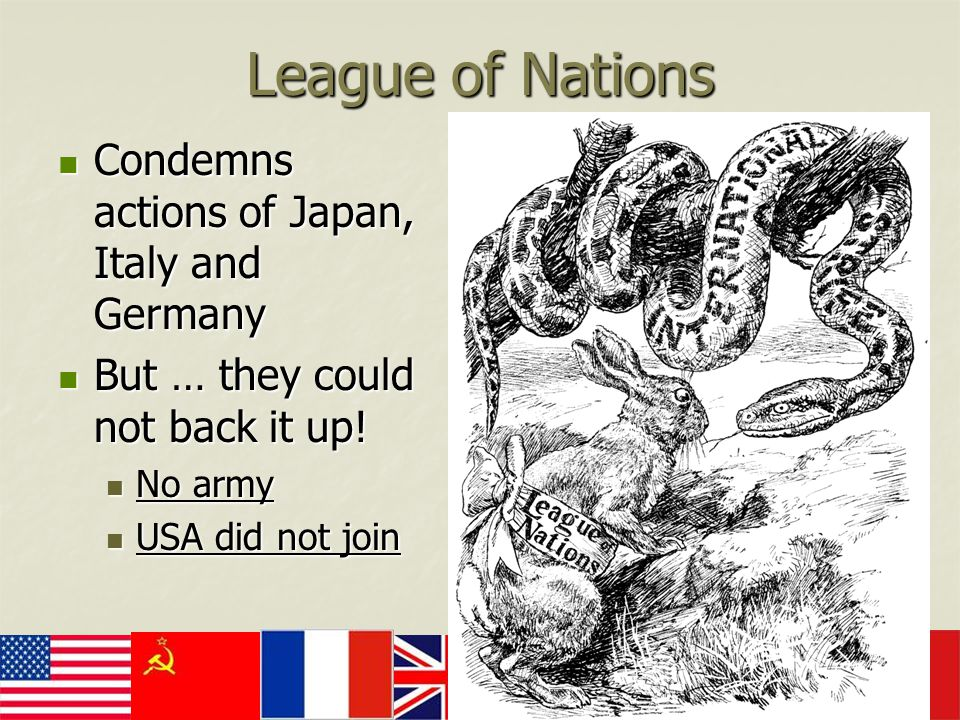 League of Nations Condemns actions of Japan, Italy and Germany
