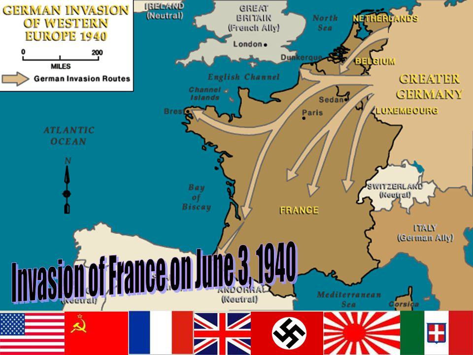 Invasion of France on June 3, 1940
